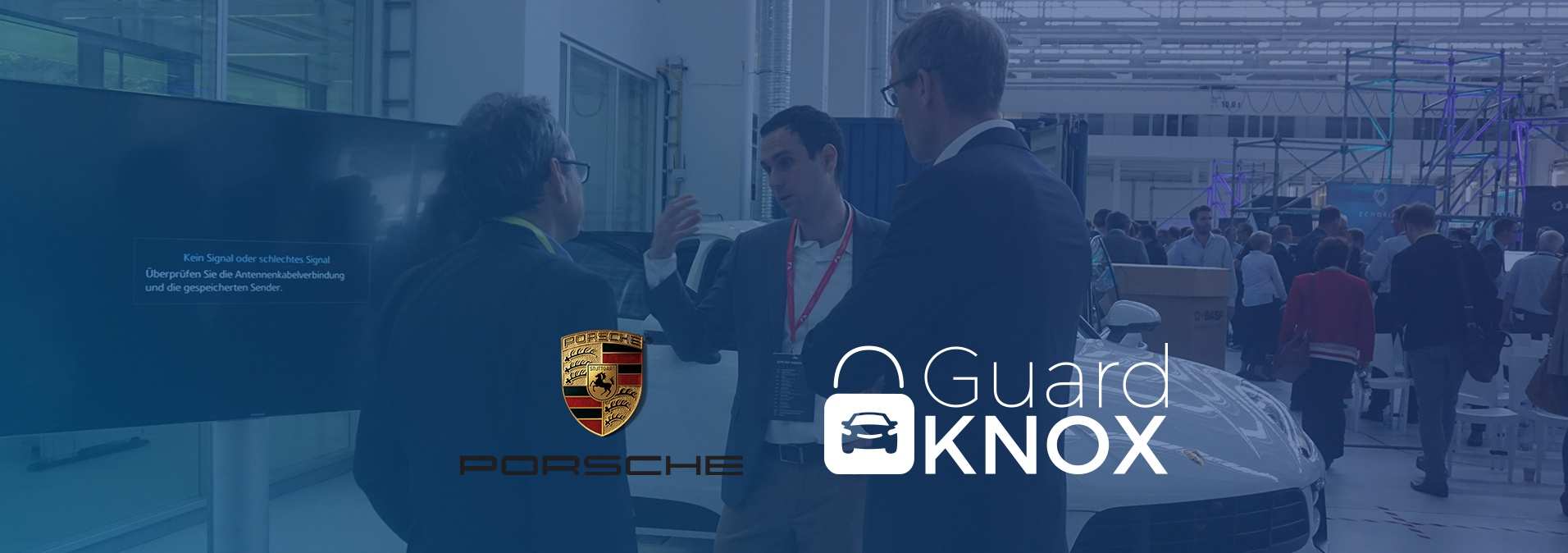 GaurdKnox and Porsche Demo the service oritented vehcile together